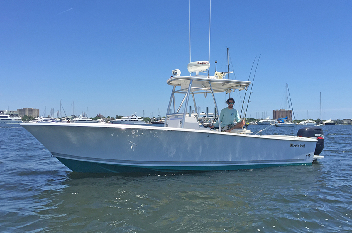 23' Seacraft center console